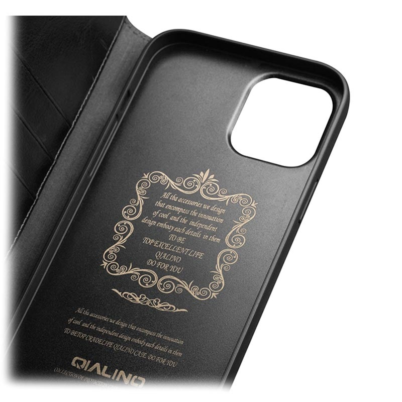 Qialino Classic iPhone 12 Mini Wallet Leather Case