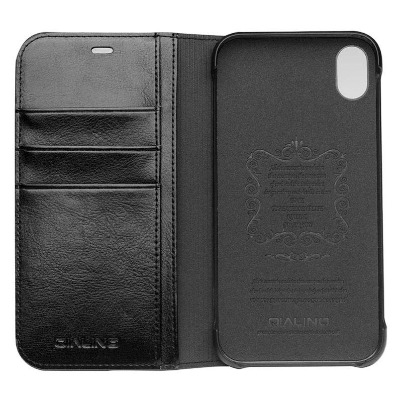 Qialino Classic iPhone XR Wallet Leather Case