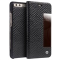 Huawei P10 Qialino Dragon Smart View Flip Leather Case - Black