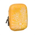 Rivacase 7023 Digital Camera Case - Flowers - Yellow
