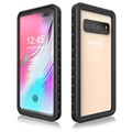 Redpepper IP68 Samsung Galaxy S10 5G Waterproof Case - Black / Clear