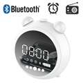 Retro Bluetooth Speaker with FM Radio & LED Alarm Clock JKR-8100