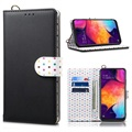 Retro Polka Dot Samsung Galaxy A50 Wallet Case