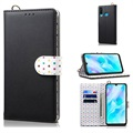Retro Polka Dot Huawei P30 Lite Wallet Case - Black