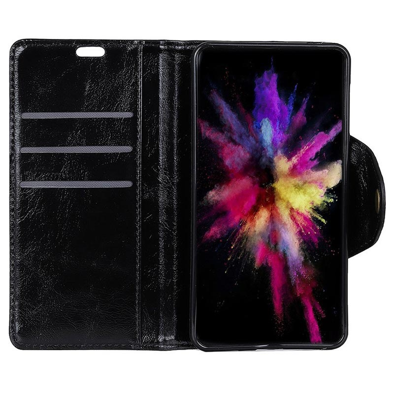 Retro Series Sony Xperia L3 Wallet Case Black