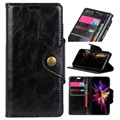 Retro Huawei P Smart (2019) Wallet Case with Magnetic Closure - Black