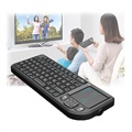 Rii X1 Mini Wireless Keyboard with Touchpad - Black