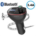 Rock B300 Car Charger & Bluetooth FM Transmitter - Black