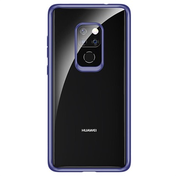Rock Crystal Clear Huawei Mate 20 Hybrid Case - Blue / Transparent