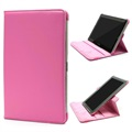 Rotary Leather Case - Samsung Galaxy Tab 2 10.1 P5100, P7500 - Hot Pink