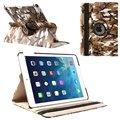 iPad Air Rotary Smart Leather Case - Brown / White / Black