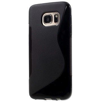 caf5521caea A Black TPU Galaxy S7 Case with an S-curve Design
