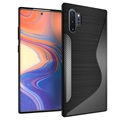 S-Shape Samsung Galaxy Note10+ TPU Case - Carbon Fiber - Black