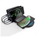 Saii PowerStand Charging Station with Qi Wireless Charger - Black