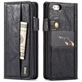 iPhone 6/6S Saii Retro Multi-Slot Wallet Case - Black