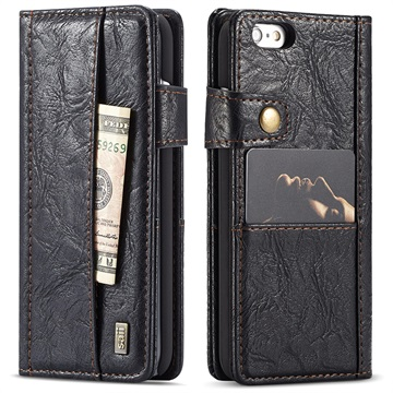 iPhone 6 Plus/6S Plus Saii Retro Multi-slot Wallet Case