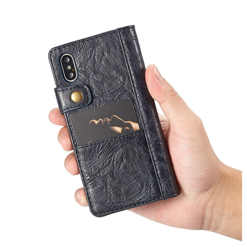 iPhone X Saii Retro Multi-slot Wallet Case