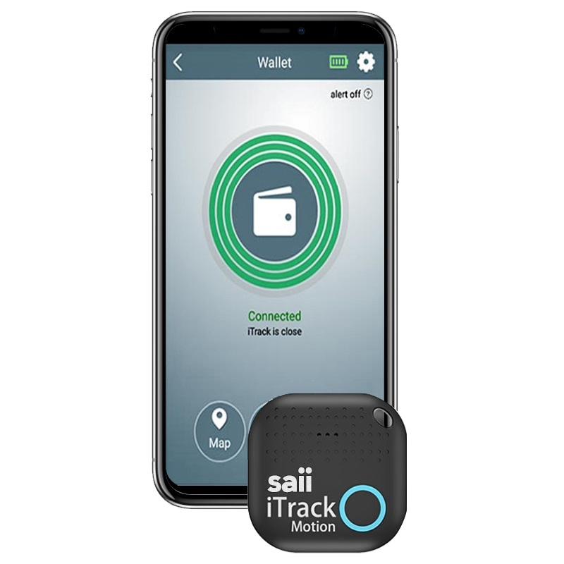 Saii iTrack Motion Alarm Smart Key Finder - Black