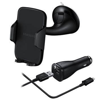 Samsung Car Holder EE-V200 & Fast Car Charger EP-LN915 (with USB-C Cable)