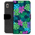 Samsung Galaxy A10 Premium Wallet Case - Tropical Flower