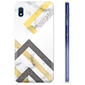 Samsung Galaxy A10 TPU Case - Abstract Marble