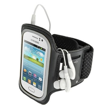 Samsung Galaxy Fame S6810 iGadgitz Sports Jogging Armband - Black