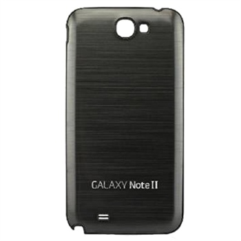 Samsung Galaxy Note 2 N7100 Full Metal Battery Cover - Grey / Black Frame