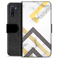 Samsung Galaxy Note10+ Premium Wallet Case - Abstract Marble