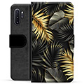 Samsung Galaxy Note10+ Premium Wallet Case - Golden Leaves