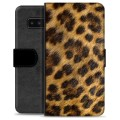Samsung Galaxy Note8 Premium Wallet Case - Leopard