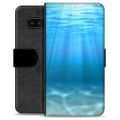 Samsung Galaxy Note8 Premium Wallet Case - Sea