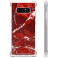 Samsung Galaxy Note8 Hybrid Case - Red Marble