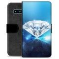 Samsung Galaxy S10 Premium Wallet Case - Diamond