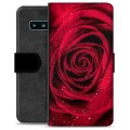 Samsung Galaxy S10 Premium Wallet Case - Rose