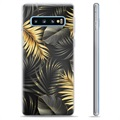 Samsung Galaxy S10+ TPU Case - Golden Leaves