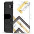 Samsung Galaxy S8 Premium Wallet Case - Abstract Marble