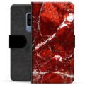Samsung Galaxy S9+ Premium Wallet Case - Red Marble