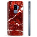 Samsung Galaxy S9+ TPU Case - Red Marble