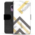 Samsung Galaxy S9 Premium Wallet Case - Abstract Marble