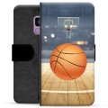 Samsung Galaxy S9 Premium Wallet Case - Basketball