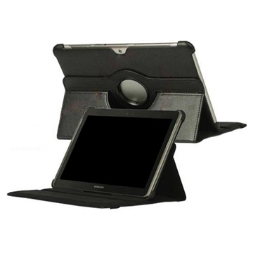 Rotary Leather Case - Samsung Galaxy Tab 2 10.1 P5100, P7500 - Black