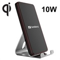 Sandberg Fast Qi Wireless Charger / Alu Desktop Stand - 10W