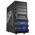 Sharkon Vaya II Value Mid Tower ATX PC Case - Black