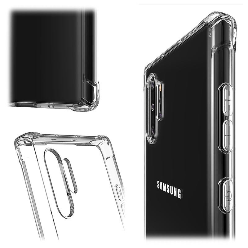 Shockproof Samsung Galaxy Note10+ TPU Case - Transparent