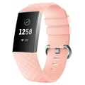 Fitbit Charge 3 Silicone Wristband with Connectors - Pink