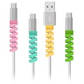 Silicone Spiral Cord and Cable Protector / Organizer - 4 Pcs.