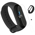 Xiaomi Mi Band 4 Silicone Wristband & TPU Screen Protector - Black