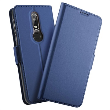 Nokia 7.1 Slim Flip Case with Card Slot - Blue