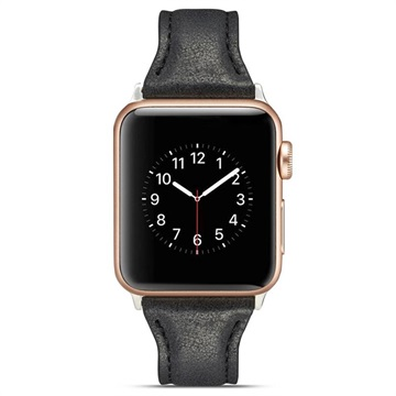 Apple Watch Series 4/3/2/1 Slim Leather Strap - 40mm, 38mm