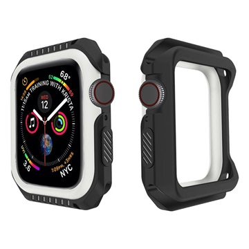 Apple Watch Series 4 Silicone Case - 40mm - Black / White